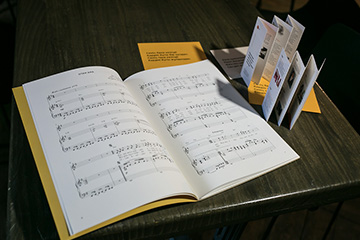Printed music edition of Batyr's songs in Kazakh